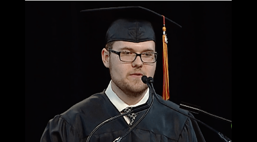 From Commencement Speaker to First Place Student