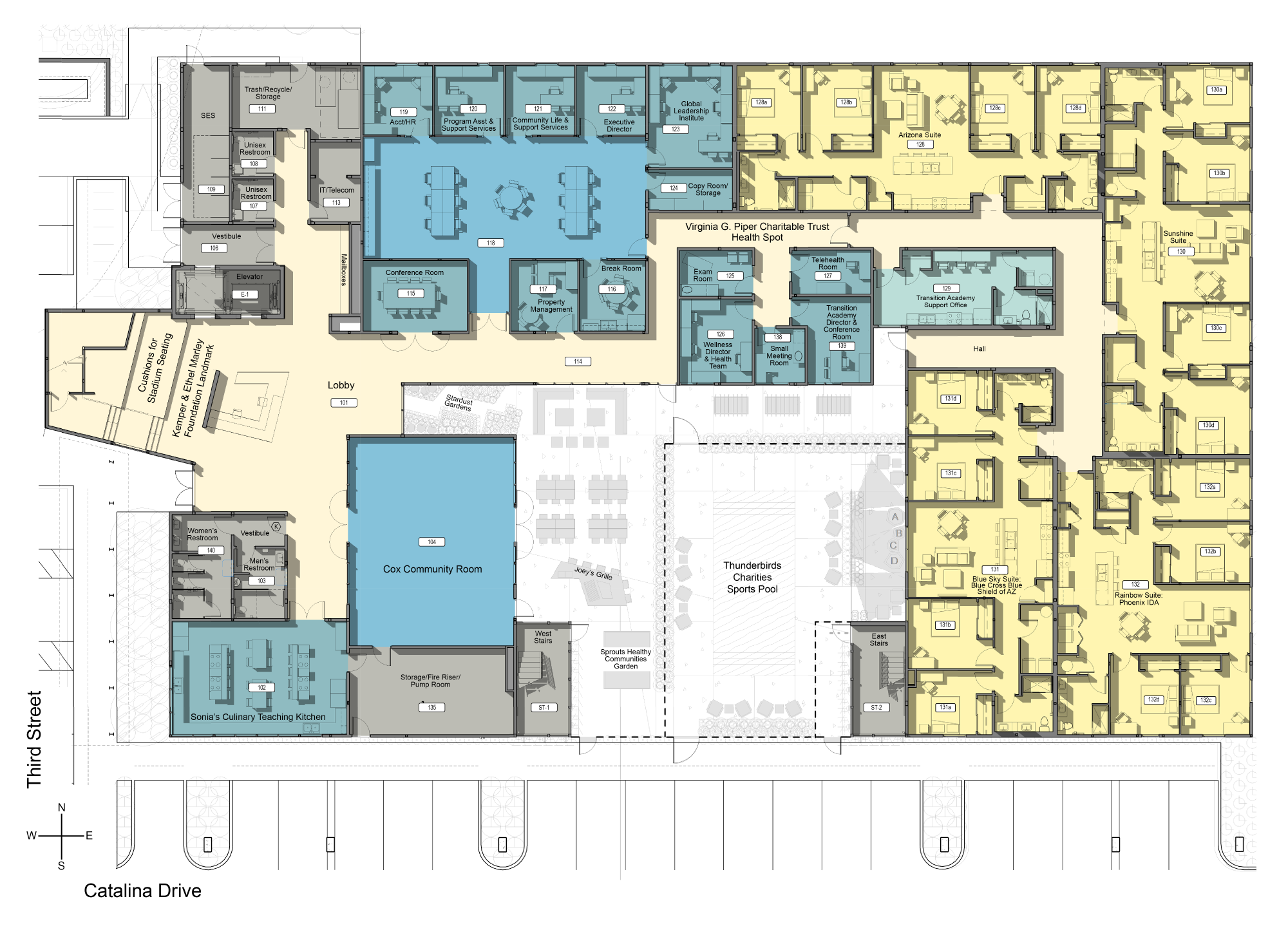 Floor plan for First Place–Phoenix housing for adults with autism