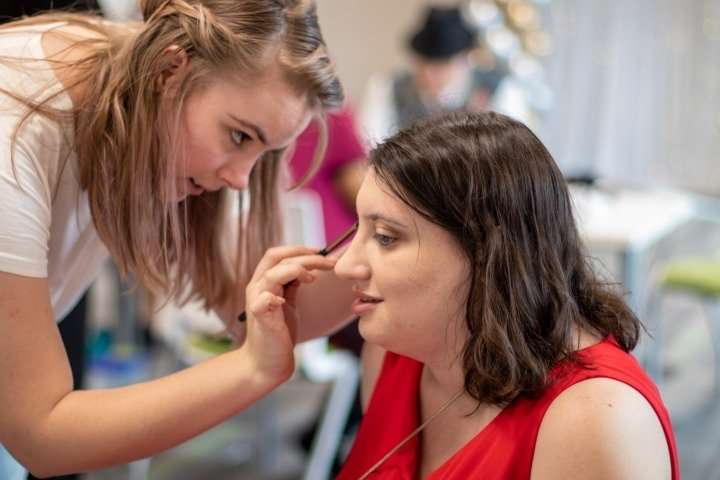 First Place–Phoenix volunteer and professional makeup artist gives Jenny a makeover for the much-anticipated annual Night to Shine Prom. Jenny, who does not normally wear makeup, knows what she likes, and feels confident and comfortable expressing her preferences to ensure her final look makes her feel beautiful.