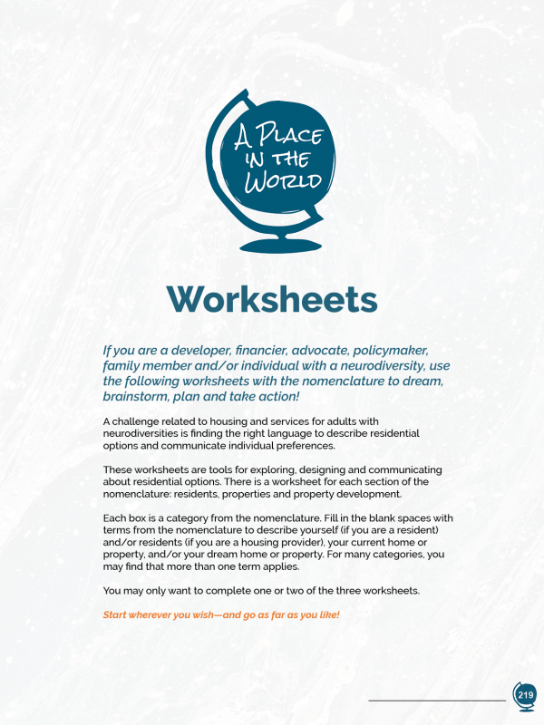 APITW Report Worksheets Cover